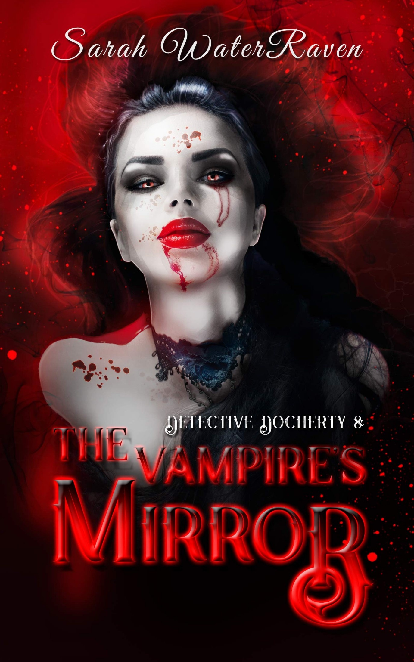 Book cover of Detective Docherty and the vampire's mirror by Sarah WaterRaven